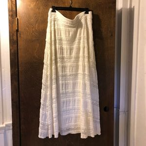 Chico's Cream Lace Skirt